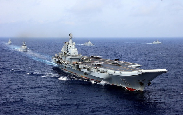 Tàu sân bay Liêu Ninh của Trung Quốc (Ảnh: Reuters)