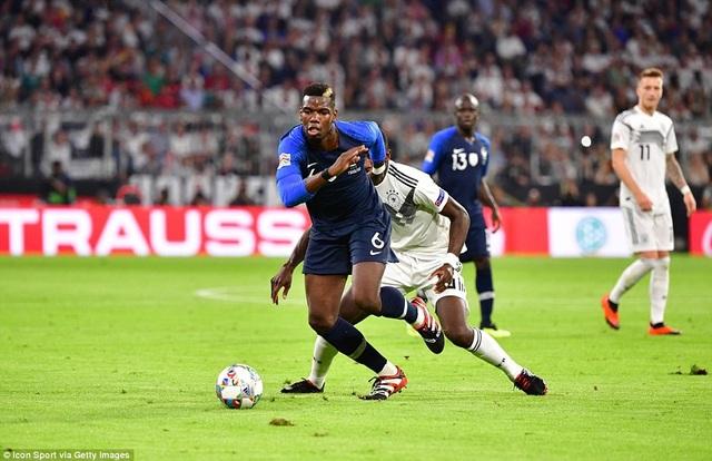 Tiền vệ Pogba thi đấu ở trận đấu tại Đức