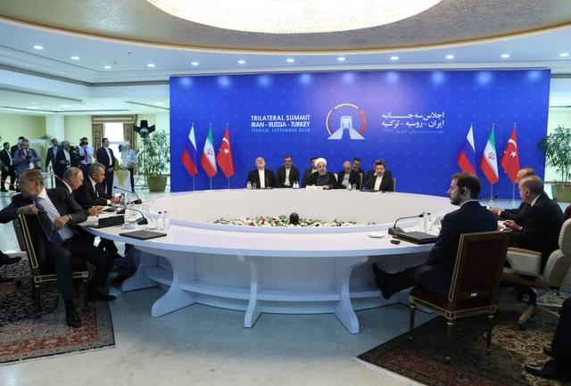 3 nhà lãnh đạo Nga, Iran, Thổ Nhĩ Kỳ họp tại Tehran ngày 7/9 (Ảnh: Reuters)