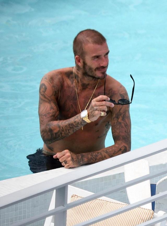 David Beckham trong một kỳ nghỉ ở Miami (Mỹ) mới đây
