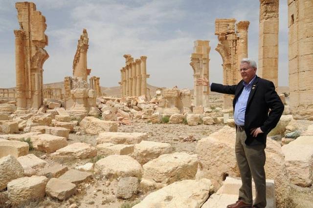 Ông Richard Black trong chuyến thăm Syria lần đầu vào năm 2016 (Ảnh: SANA)