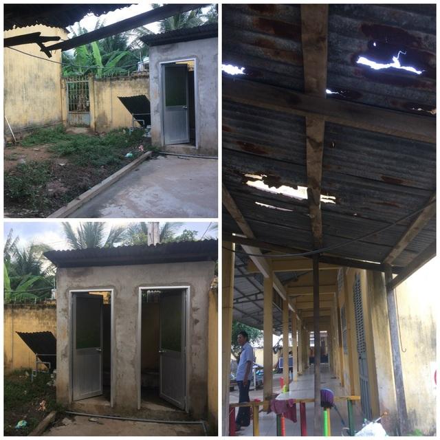 Nhà vệ sinh mục nát ở trường Mầm non Ninh Thới (xã Ninh THới, huyện Cầu Kè)
