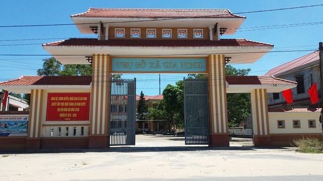 Trụ sở UBND xã Gia Ninh, huyện Quảng Ninh, tỉnh Quảng Bình