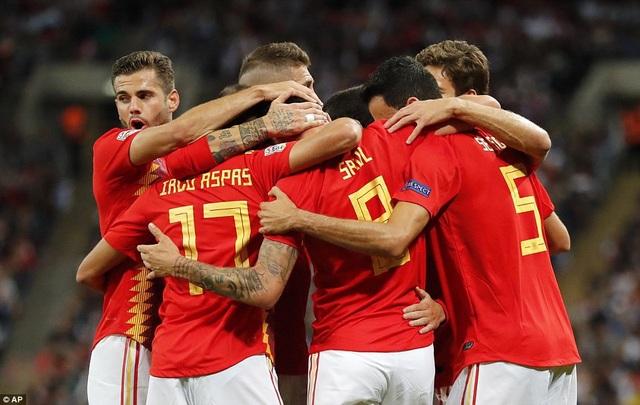 Tây Ban Nha gỡ hòa 1-1 ở phút 13...