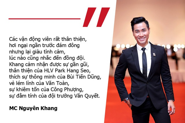 """MC Nguyên Khang: """"Thầy Park thân thiện, Tiến Dũng thông minh, Văn Toàn lém lỉnh"""" Nghệ sĩ bức xúc trước hành động quá khích của một số cổ động viên Việt Nam"""
