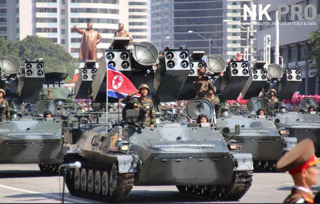 Các tổ hợp vũ khí phòng không của quân đội Triều Tiên xuất hiện tại lễ duyệt binh. (Ảnh: NK Pro)
