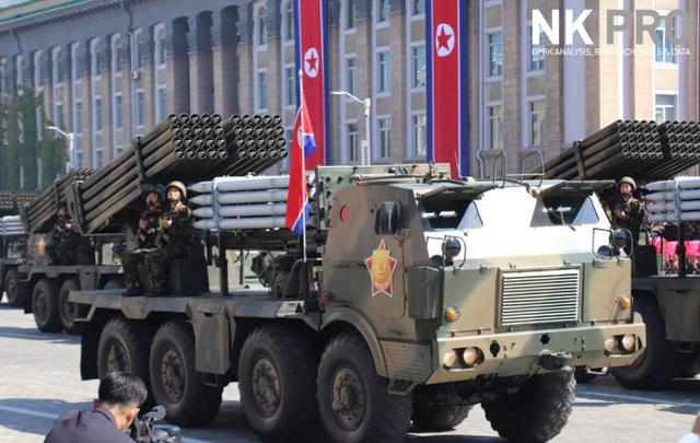 Dàn phương tiện quân sự được trang bị vũ khí hiện đại của Triều Tiên. (Ảnh: NK Pro)