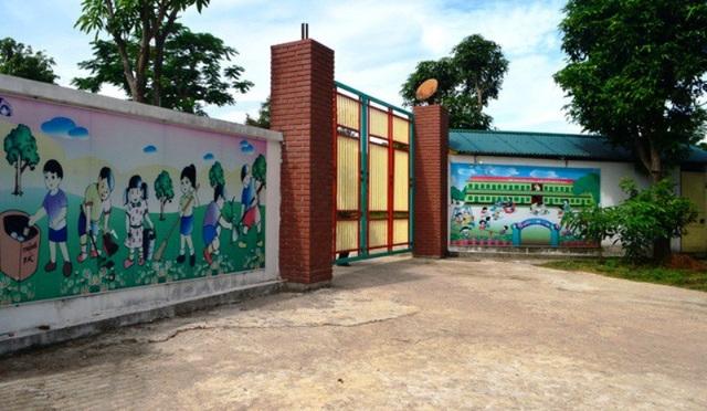 Cơ sở Mầm non Tuổi Thơ hiện đang phải đóng cửa vì chưa hoàn thành thủ tục.