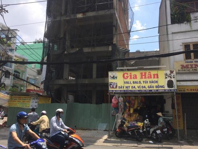 Công trình xây dựng nơi xảy ra vụ việc