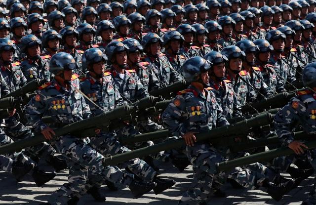Triều Tiên sáng nay đã tổ chức lễ duyệt binh hoành tráng tại quảng trường Kim Nhật Thành ở thủ đô Bình Nhưỡng nhân kỷ niệm 70 năm ngày Quốc khánh 9/9. (Ảnh: Reuters)