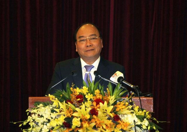 Thủ tướng Nguyễn Xuân Phúc phát biểu tại Hội nghị Xúc tiến đầu tư tỉnh Phú Yên