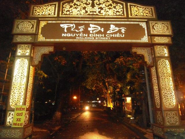 Cổng vào phố đi bộ Nguyễn Đình Chiểu