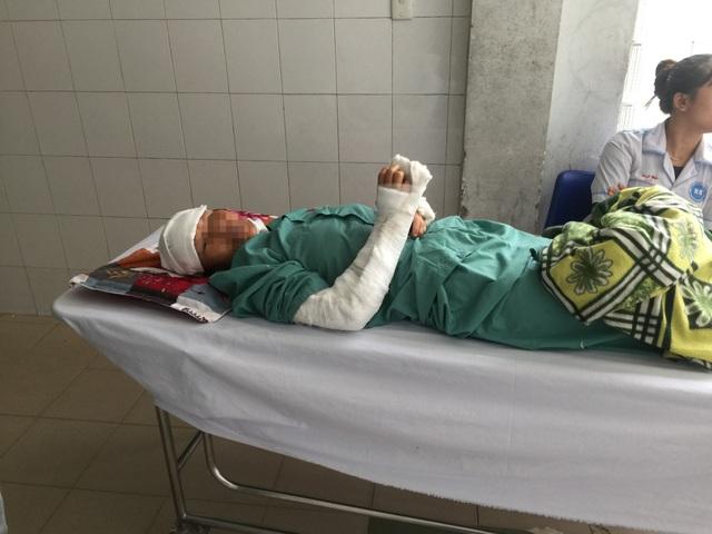 Bà N. nhập viện cấp cứu với nhiều vết thương trên cơ thể