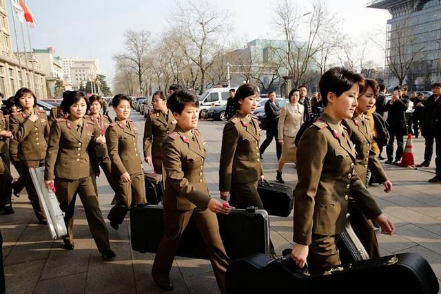 Các thành viên của ban nhạc đều là những người có chức vụ cao trong quân đội Triều Tiên. (Ảnh: Getty)