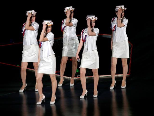 Ban nhạc Moranbong được cho sẽ là một phần trong dàn nhạc Samjiyon gồm 140 người mà Triều Tiên cử sang Hàn Quốc. (Ảnh: Getty)