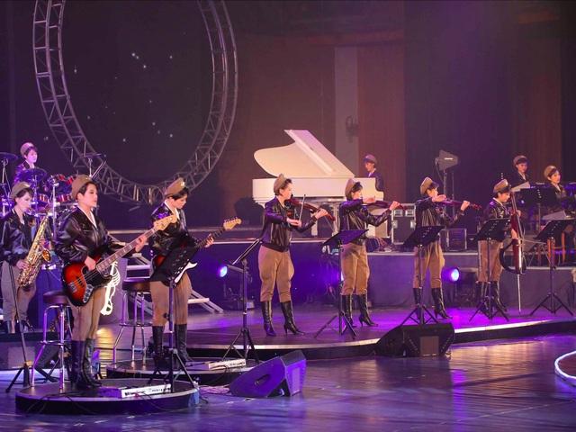 Mùa hè năm 2015, có tin đồn đoán rằng ban nhạc Moranbong biến mất vì họ không biểu diễn suốt vài tháng. (Ảnh: AP)