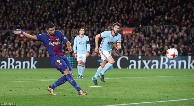 Barcelona ép sân toàn diện, không cho Celta Vigo có nổi cơ hội ghi bàn nào