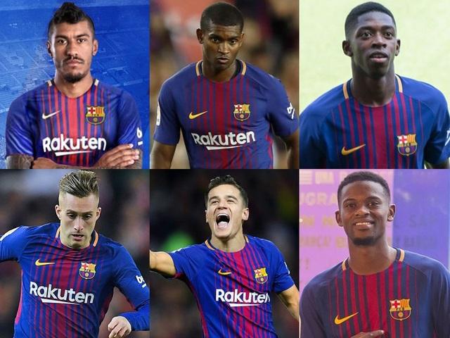 Barcelona vung tới 312,5 triệu euro để chiêu mộ 6 tân binh trong mùa giải này