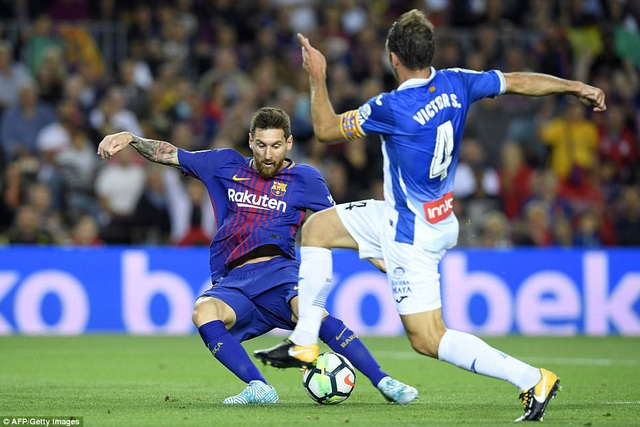 Lionel Messi luôn có duyên ghi bàn khi gặp Espanyol