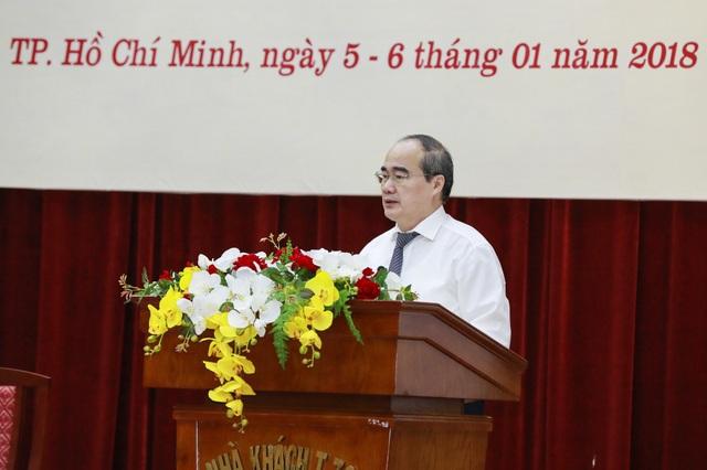 Bí thư Thành ủy TPHCM Nguyễn Thiện Nhân cho rằng, MTTQ phải phát huy vai trò giám sát của mình, tích cực tham gia kiểm soát quyền lực (ảnh: Quang Vinh)