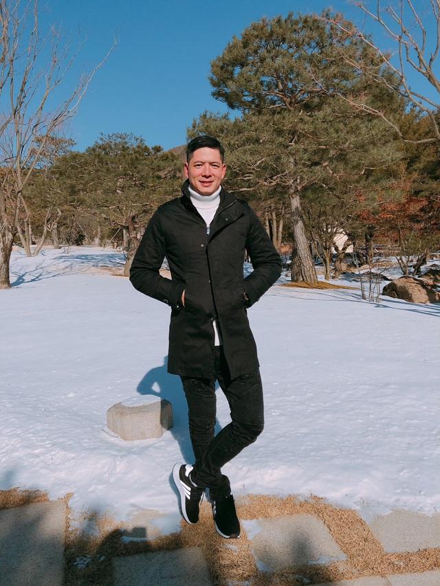Bình Minh đưa vợ qua Hàn ngắm tuyết sau scandal với Trương Quỳnh Anh - 5