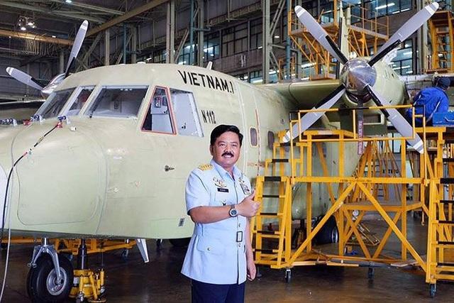 Máy bay Casa-212 của Việt Nam đang được hoàn thiện tại nhà máy Bandung (Indonesia)