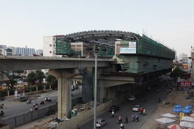 Dự án Đường sắt trên cao Cát Linh-Hà Đông đã chậm tiến độ 5 lần và phát sinh vốn rất lớn