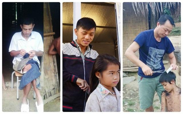 Hình ảnh cảm động về người thầy ở trường vùng cao Nghệ An (Ảnh: Hoàng Lam)