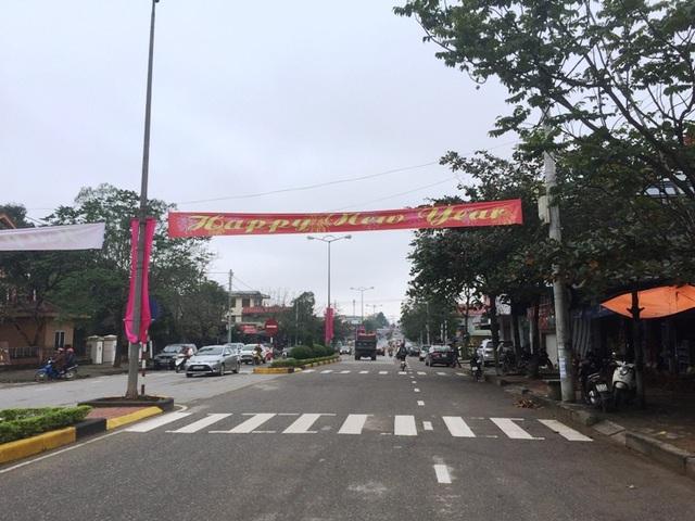Đường phố Đông Hà vẫn vắng vẻ trong ngày đầu năm mới