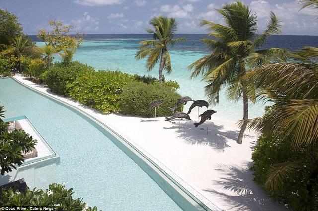 Khu nghỉ dưỡng có bể bơi trong và ngoài trời dài 40m