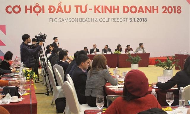 Hội thảo Cơ hội kinh doanh - đầu tư 2018 được tổ chức sáng nay (5/1) tại Thanh Hóa. (Ảnh: Hồng Vân)