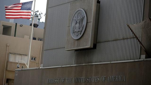 Đại sứ quán Mỹ tại Tel Aviv (Ảnh: Reuters)