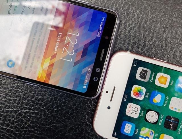 """Galaxy A8 2018 """"so kè"""" nhanh cùng iPhone 7 - 6"""