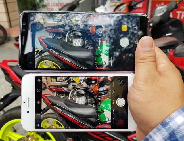 """Galaxy A8 2018 """"so kè"""" nhanh cùng iPhone 7 - 5"""