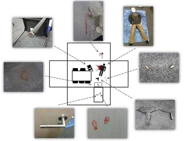 """Trong thí nghiệm hiệu ứng CSI, các nhà nghiên cứu đã tiến hành bốn nghiên cứu riêng biệt, gồm một hiện trường án mạng giả sẽ được các đối tượng """"thu dọn"""" – Andreas Baranowski."""