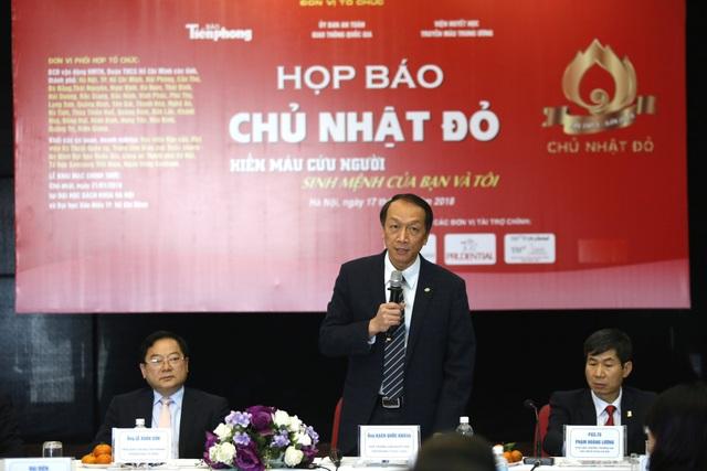TS Bạch Quốc Khánh, Viện trưởng Viện Huyết học và Truyền máu Trung ương.