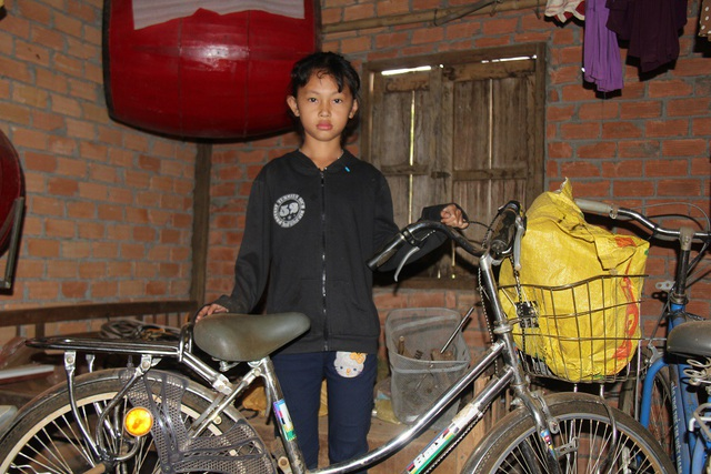 Tài sản giá trị nhất trong nhà là chiếc xe đạp Trâm được tặng đầu năm học