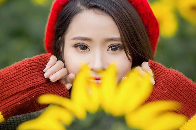 Cùng ngắm nhìn thêm một số hình ảnh của Nguyệt Hằng ở cánh đồng rực rỡ hoa hướng dương.