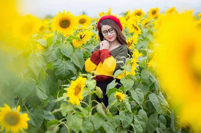"""Hằng bộc bạch: """"Mình mong rằng sẽ có nhiều người đến với cánh đồng hoa hướng dương, thả mình thư thái giữa thiên nhiên quả thực rất tuyệt vời""""."""