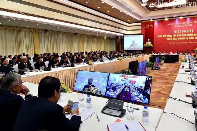 Thủ tướng Nguyễn Xuân Phúc dự hội nghị tổng kết công tác năm 2017, triển khai nhiệm vụ 2018 của Ban Dân vận Trung ương.