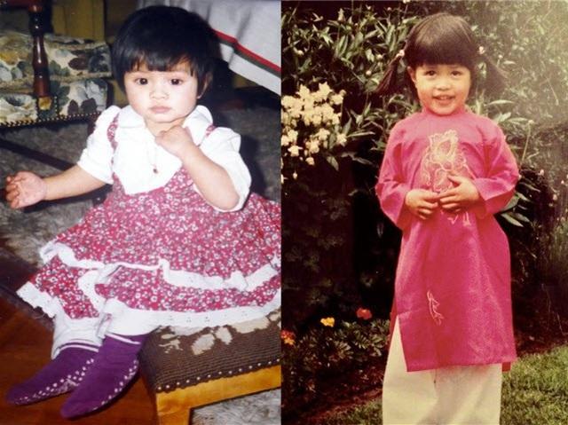 Nguyễn Hương Giang khi còn nhỏ. (Ảnh do nhân vật cung cấp)