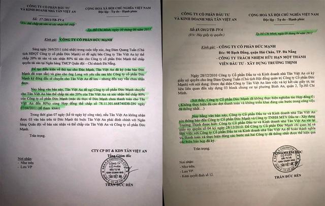 Công ty Tân Việt An đã phát hành văn bản về việc hủy bỏ việc thế chấp vay vốn.