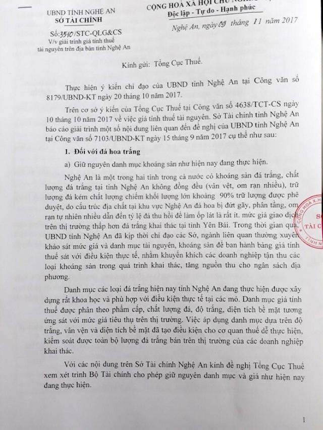 Áp thuế theo Thông tư 44, UBND tỉnh Nghệ An gửi văn bản đề nghị Bộ Tài chính xem xét! - 7