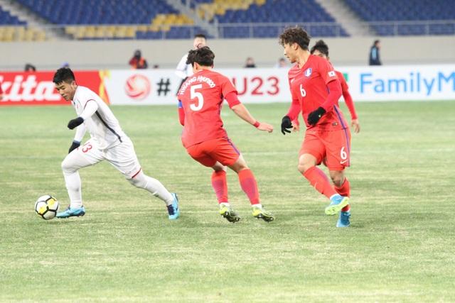 U23 Việt Nam đã chơi đầy hứng khởi trước U23 Hàn Quốc