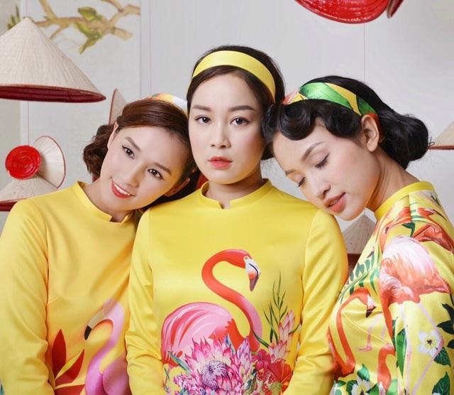 Lã Thanh Huyền cùng dàn sao Việt nổi bần bật với áo dài cách tân sặc sỡ - 9