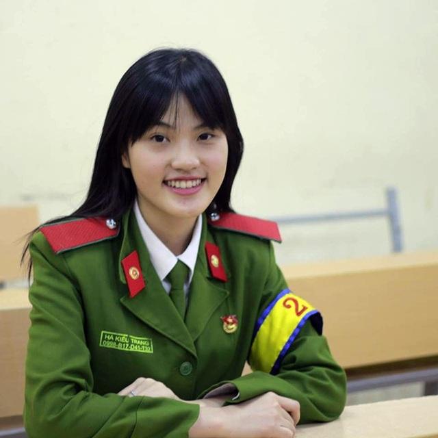 Hà Kiều Trang là nữ sinh Học viện Cảnh sát nhân dân có thành tích học tập và hoạt động ngoại khóa đáng nể.