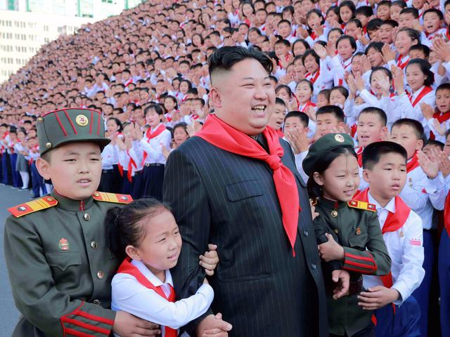 Ông Kim Jong-un dự đại hội của trẻ em Triều Tiên tại Bình Nhưỡng (Ảnh: Reuters)