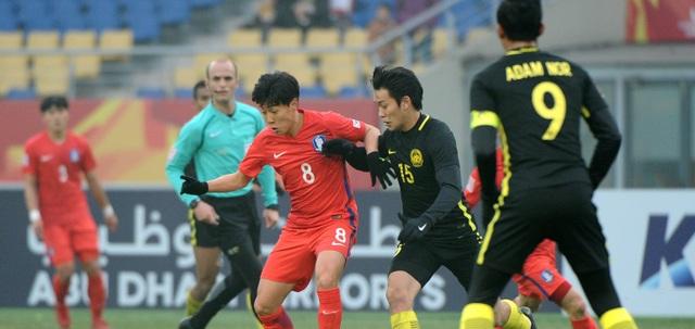 U23 Hàn Quốc đã vượt lên dẫn trước từ rất sớm