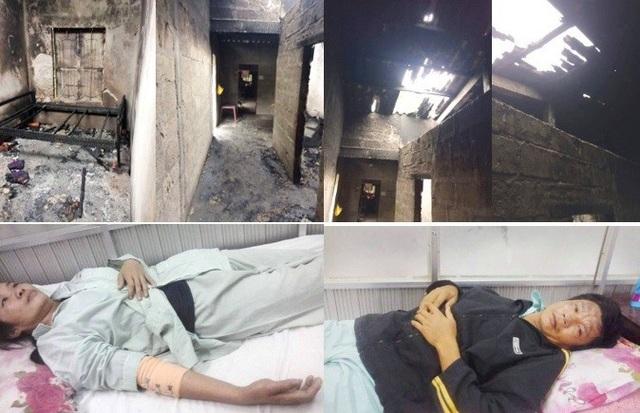 Sau vụ cháy, căn nhà nghèo tồi tàn của gia đình anh Hùng giờ không thể ở được nữa