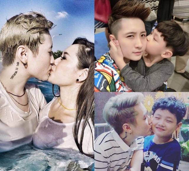 Điều đặc, giờ đây đôi bạn trẻ cùng sống chung trong một mái nhà và cùng nuôi dạy con riêng của MC Ngọc Trang.